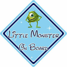 Little Monster On Board Car Sign – Baby On Board – Disney Monsters Inc Mike