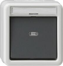 GIRA Feuchtraum Aufputz Kontrollschalter Typ 011630 grau