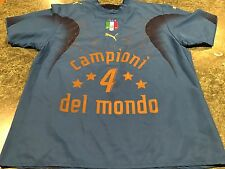 VINTAGE ITALY ITALIA PUMA 2006 WORLD CUP CHAMPION JERSEY BY NEIL BARRETT Sz. XL