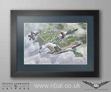 Framed 617 Squadron RAF Marham F35-B Lightning II DIGITAL ART PRINT