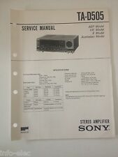 Schema SONY - Service Manual Stereo Amplifier TA-D505 TAD505