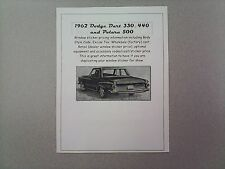 1962 Dodge big-car cost/dealer retail sticker pricing for car + options 62 $$$