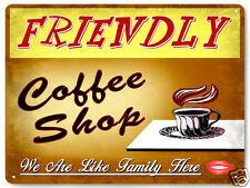 Coffee shop display metal sign gift vintage style funny kitchen wall decor 101
