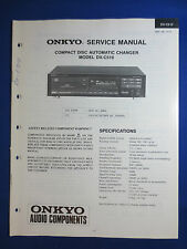 ONKYO DX-C510 CD PLAYER CHANGER SERVICE MANUAL ORIGINAL FACTORY ISSUE