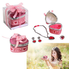 Dazzling Toys Pink Heart Shaped Jewelry Box Includes Necklace & Ring Gift Set