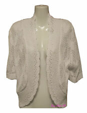 Ladies Women's Crochet Heart Knitted Shrugs Bolero Cardigans Jumpers Plus Sizes