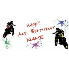 Extreme Sports Party Supplies MOTO CROSS MOTORCYCLE Personalized Custom Banner