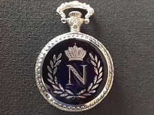 "POCKET WATCH NO.10 SILVER COLOURED HALF HUNTER,""NAPOLEON BONAPARTE"" COLLECTABLE"
