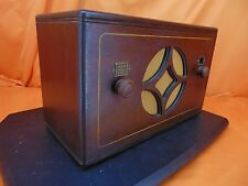 Vintage 1931 AMERICAN BOSCH 5AC Wood Case TUBE RADIO ~ WHO'S THE BOSCH? ~