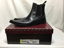 MENS DONALD J. PLINER Western Couture Collection Jasso Black Leather Boots 10.5