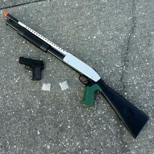 2pcs Airsoft toy gun spring powered rifle pistol Steampunk Zombie project DIY