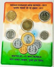 Indian Coinage New Series 2011 Set of 5 Coins, Rs 10, 5, 2, 1, 0.5, Mumbai Mint