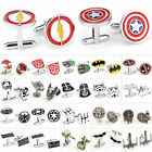 Star Wars Superhero Men Fancy Cufflinks Wedding Party Novelty Jewelry Cuff Links