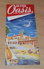 """VTG ca 1940's ADVERTISING Brochure~""""HOTEL OASIS""""~Palma De Mallorca~"""