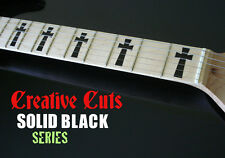 Goth Iommi Cross BLACK Fretboard Markers Vinyl Inlay Decal for Maple Neck GUITAR