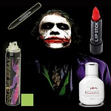 Halloween Joker MakeUp Set Of 4 - Miss Pouty White Liquid Foundation, Stargazer