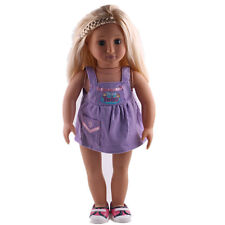 Children Christmas gift clothes set for 18inch American girl doll party N113