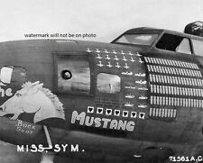 """B-17F Flying Fortress Bomber named The Mustang 8""""x 10"""" World War II Photo #151"""
