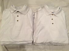 LOT of 13 NEW Mens Blank White Collared Shirts JERZEES, Screen Print LARGE L F/S