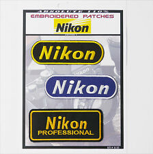 NIKON CAMERA PATCHES Iron-On Patch Super Set #132 - FREE POSTAGE!