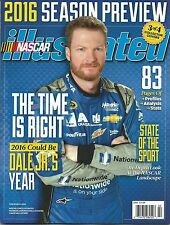 2016 NASCAR PREVIEW NASCAR ILLUSTRATED RACING MAGAZINE DALE EARNHARDT JR COVER