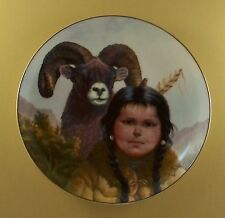 Pride of America's Indians NOBLE COMPANIONS Plate #3 Native American Indian Ram