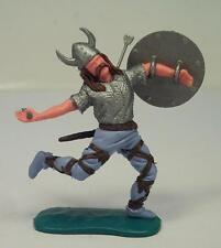 Timpo Toys Wikinger Viking vom Pfeil getroffen mit braunen Haaren