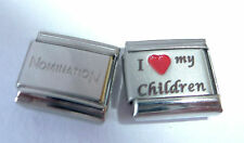 I LOVE MY CHILDREN 9mm Italian Charm + 1x Genuine Nomination Classic RED HEART