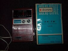 VINTAGE Browni SOLID STATE AM-FM BATTERY ELECTRIC PORTABLE RADIO