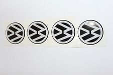 Volkswagen 4x68 or58mm Stickers for Wheel Center Caps Silicone Logo  Rim Emblem