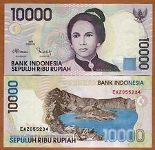 Indonesia 10000 (10,000) Rupiah, 1998, P-137a, UNC   Woman