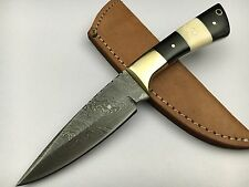 ASH DJ93M Damascus steel custom handmade hunting skinner knife 9""