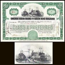 Chicago South Shore and South Bend Rr In 1928 Samuel Insull Jr Stock Certificate