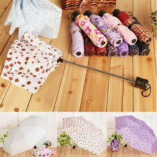 Sun Umbrella Short Handle Umbrella Couple Portable Mini Folding Umbrella