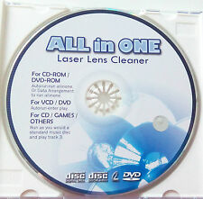 All in one láser lens Cleaner Disc para CD DVD Blu Ray unidades limpieza Disk