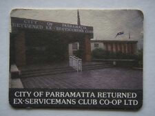 CITY OF PARRAMATTA RETURNED EX-SERVICEMANS CLUB CO-OP LTD 6635177 HOURS COASTER