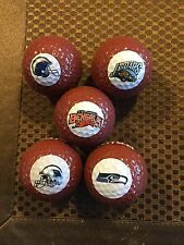 LOGO GOLF BALL-NFL..PANTHERS,SEAHAWKS,RAMS,BENGALS,JAGUARS..BROWN FOOTBALL LOGO!
