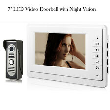 "7"" LCD Video Night Vision Intercom Doorbell Home Entry Security Camera Doorphone"