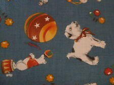 Vintage MODA Look & Learn Sandy Klop Childrens Pure Cotton Fabric 1 yard NEW