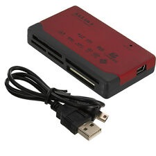 26-IN-1 USB 2.0 MEMORY CARD READER FOR CF/xD/SD/MS/SDHC Red