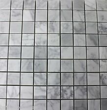 Marble CARRARA Wall Floor Tiles Mosaic Small Square White Grey 30 x 30 Polished