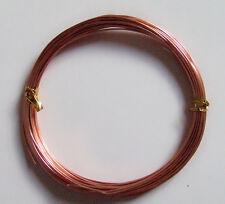 10mt  di filo in alluminio 1mm colore rame bijoux