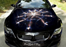 Abstract Flame Full Color Graphics Adhesive Vinyl Sticker Fit any Car Hood #105