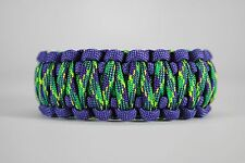 550 Paracord Survival Bracelet King Cobra Purple/Green/Plum Crazy Camping