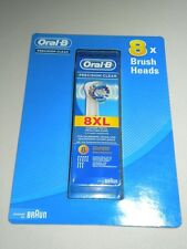 BRAUN ORAL B 8 PACK GENUINE REPLACEMENT PRECISION CLEAN BRUSH HEADS 8XL FREE P&P
