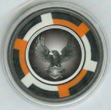 Harley Davidson Eagle Poker Card Guard in Protective Case - 4 colors available