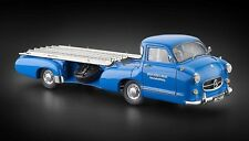 CMC 1:18 Scale 1955 Mercedes-Benz Racing Car Transporter Blue Wonder New Edition