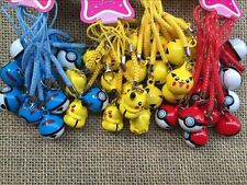 20 pcs Pokemon Pikachu Charms small bell Pendants DIY Jewelry gift