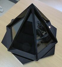 Jewellery Display Stand - Black, hexagonal, rotating.