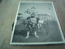 glue marks on back photograph rhodesia 1930s decorated cart puller